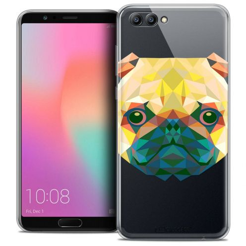 "Coque Crystal Gel Honor View 10 / V10 (6"") Extra Fine Polygon Animals - Chien"