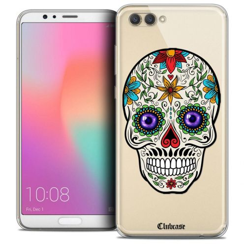 "Coque Crystal Gel Honor View 10 / V10 (6"") Extra Fine Skull - Maria's Flower"