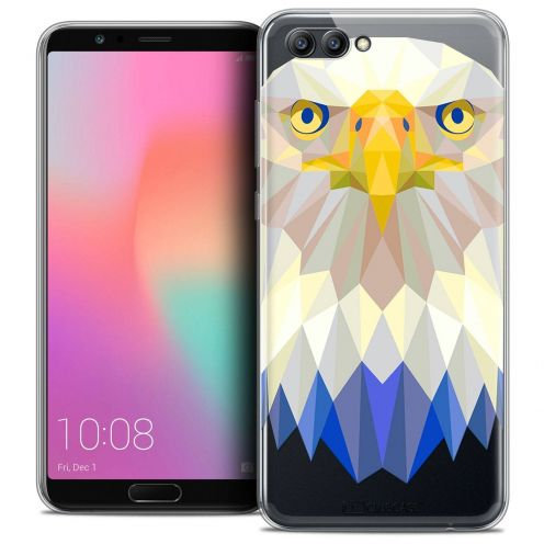 "Coque Crystal Gel Honor View 10 / V10 (6"") Extra Fine Polygon Animals - Aigle"