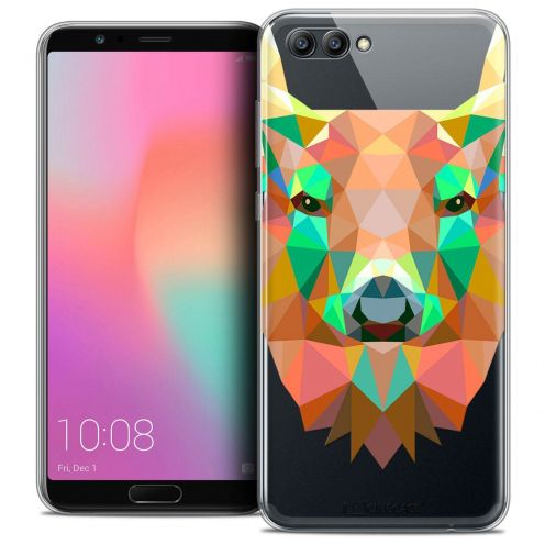 "Coque Crystal Gel Honor View 10 / V10 (6"") Extra Fine Polygon Animals - Cerf"