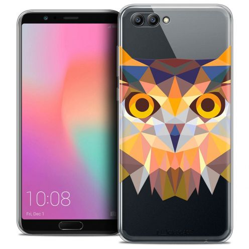 "Coque Crystal Gel Honor View 10 / V10 (6"") Extra Fine Polygon Animals - Hibou"