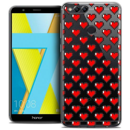 "Coque Crystal Gel Honor 7X (5.9"") Extra Fine Love - Pixel Art"
