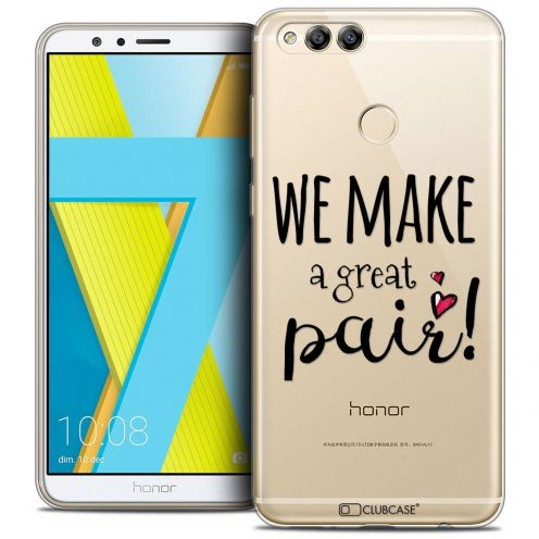 "Coque Crystal Gel Honor 7X (5.9"") Extra Fine Love - We Make Great Pair"