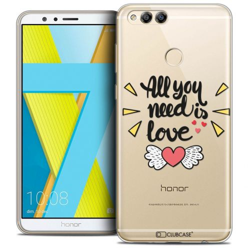 "Coque Crystal Gel Honor 7X (5.9"") Extra Fine Love - All U Need Is"