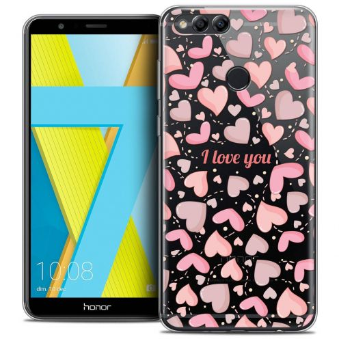 "Coque Crystal Gel Honor 7X (5.9"") Extra Fine Love - I Love You"