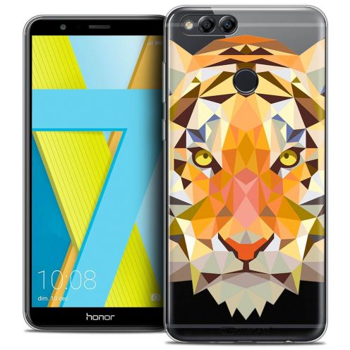 "Coque Crystal Gel Honor 7X (5.9"") Extra Fine Polygon Animals - Tigre"