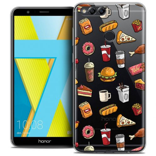 "Coque Crystal Gel Honor 7X (5.9"") Extra Fine Foodie - Fast Food"
