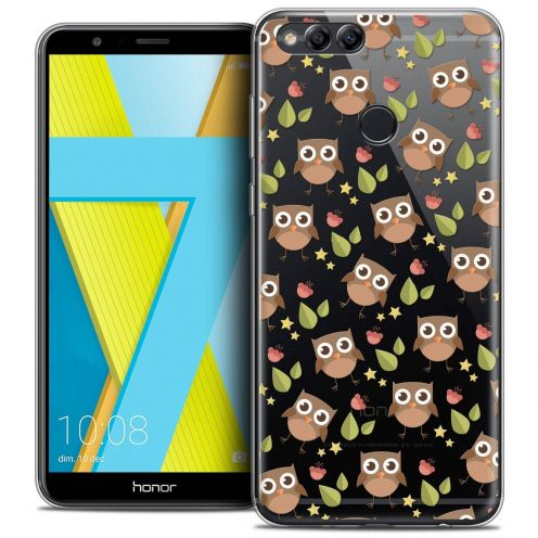 "Coque Crystal Gel Honor 7X (5.9"") Extra Fine Summer - Hibou"