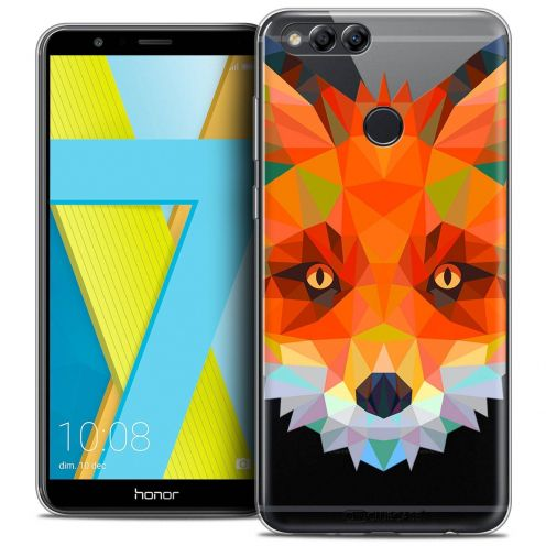 "Coque Crystal Gel Honor 7X (5.9"") Extra Fine Polygon Animals - Renard"