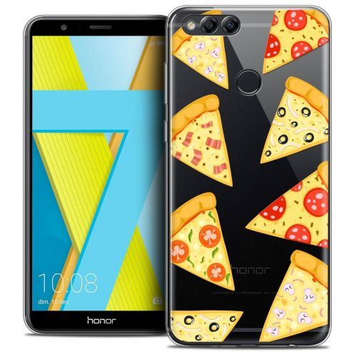 "Coque Crystal Gel Honor 7X (5.9"") Extra Fine Foodie - Pizza"