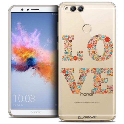 "Coque Crystal Gel Honor 7X (5.9"") Extra Fine Summer - Love Flowers"
