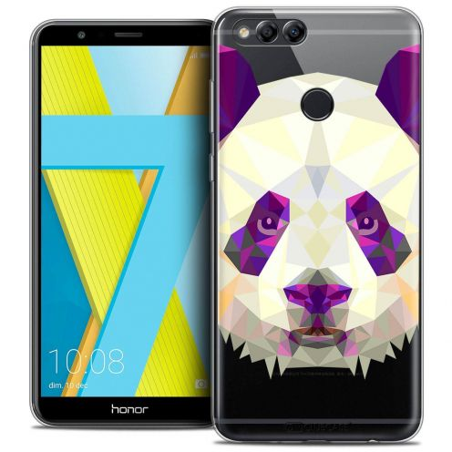"Coque Crystal Gel Honor 7X (5.9"") Extra Fine Polygon Animals - Panda"