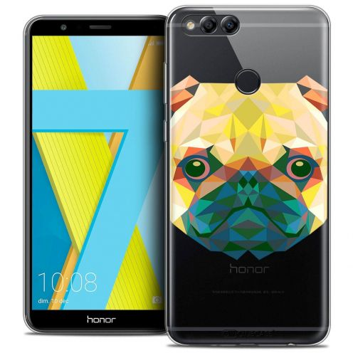 "Coque Crystal Gel Honor 7X (5.9"") Extra Fine Polygon Animals - Chien"