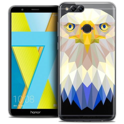 "Coque Crystal Gel Honor 7X (5.9"") Extra Fine Polygon Animals - Aigle"