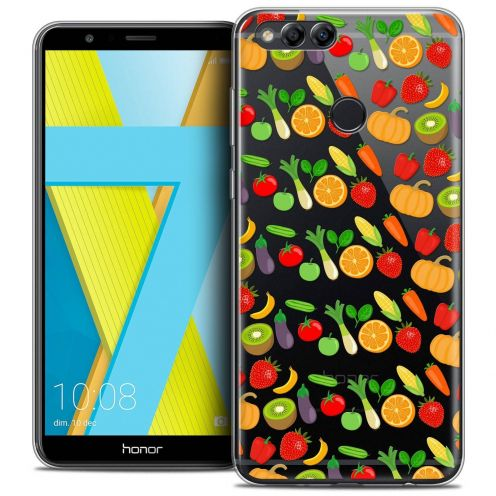 "Coque Crystal Gel Honor 7X (5.9"") Extra Fine Foodie - Healthy"