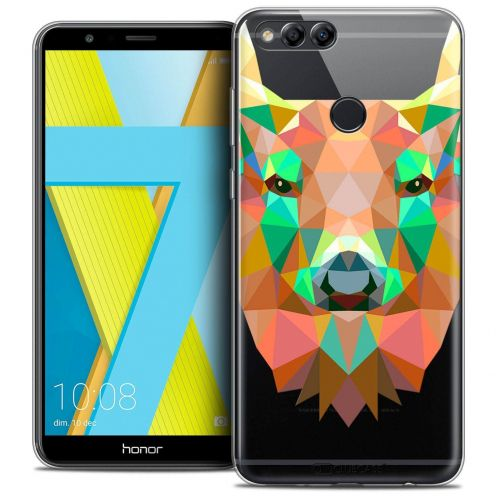 "Coque Crystal Gel Honor 7X (5.9"") Extra Fine Polygon Animals - Cerf"