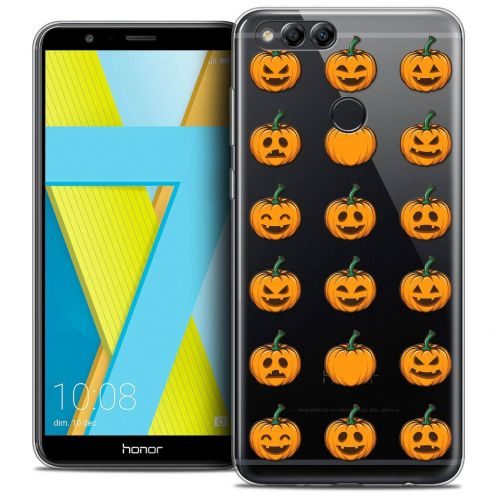 "Coque Crystal Gel Honor 7X (5.9"") Extra Fine Halloween - Smiley Citrouille"