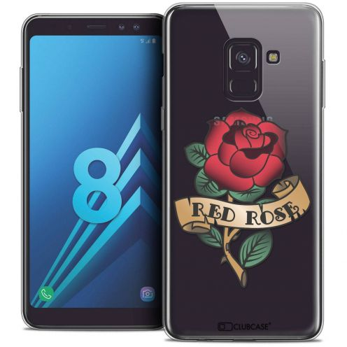 """Coque Crystal Gel Samsung Galaxy A8 (2018) A530 (5.6"""") Extra Fine Tatoo Lover - Red Rose"""