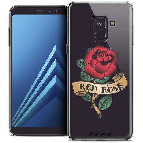 """Coque Crystal Gel Samsung Galaxy A8+ (2018) A730 (6.0"""") Extra Fine Tatoo Lover - Red Rose"""