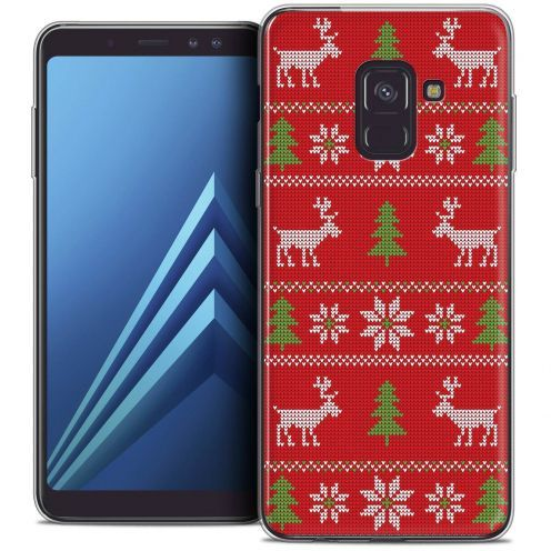 """Coque Crystal Gel Samsung Galaxy A8+ (2018) A730 (6.0"""") Extra Fine Noël 2017 - Couture Rouge"""