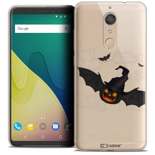 """Coque Crystal Gel Wiko View XL (5.99"""") Extra Fine Halloween - Chauve Citrouille"""