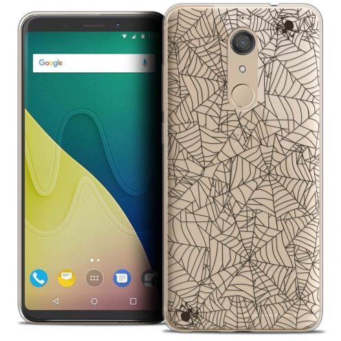 """Coque Crystal Gel Wiko View XL (5.99"""") Extra Fine Halloween - Spooky Spider"""