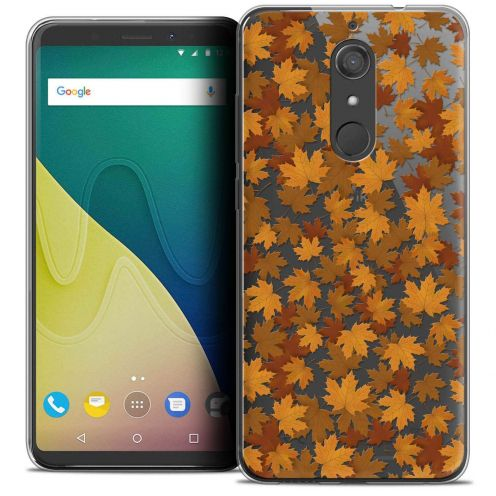 """Coque Crystal Gel Wiko View XL (5.99"""") Extra Fine Autumn 16 - Feuilles"""