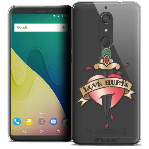 """Coque Crystal Gel Wiko View XL (5.99"""") Extra Fine Tatoo Lover - Love Hurts"""
