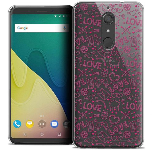 """Coque Crystal Gel Wiko View XL (5.99"""") Extra Fine Love - Doodle"""