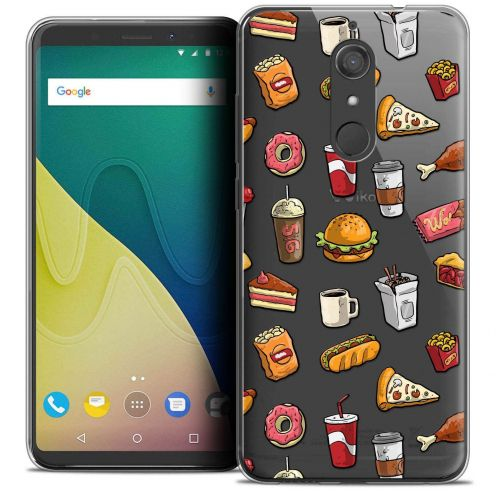 """Coque Crystal Gel Wiko View XL (5.99"""") Extra Fine Foodie - Fast Food"""