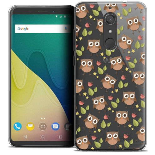 """Coque Crystal Gel Wiko View XL (5.99"""") Extra Fine Summer - Hibou"""