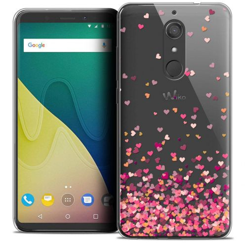 "Coque Crystal Gel Wiko View XL (5.99"") Extra Fine Sweetie - Heart Flakes"