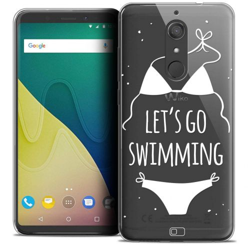 "Extra Slim Crystal Gel Wiko View XL (5.99"") Case Summer Let's Go Swim"