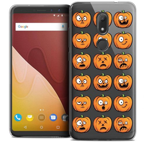 "Coque Crystal Gel Wiko View PRIME (5.7"") Extra Fine Halloween - Cartoon Citrouille"