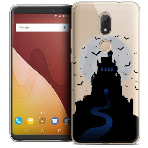 "Extra Slim Crystal Gel Wiko View PRIME (5.7"") Case Halloween Castle Nightmare"