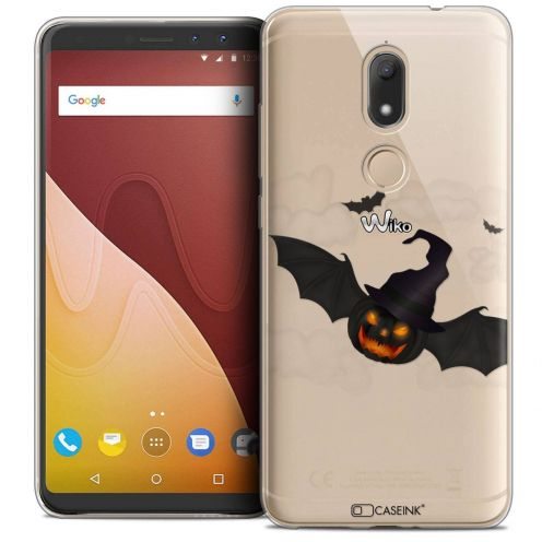 "Extra Slim Crystal Gel Wiko View PRIME (5.7"") Case Halloween Chauve Citrouille"