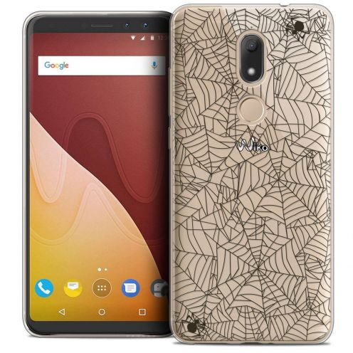 """Coque Crystal Gel Wiko View PRIME (5.7"""") Extra Fine Halloween - Spooky Spider"""
