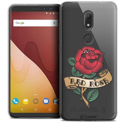 "Coque Crystal Gel Wiko View PRIME (5.7"") Extra Fine Tatoo Lover - Red Rose"