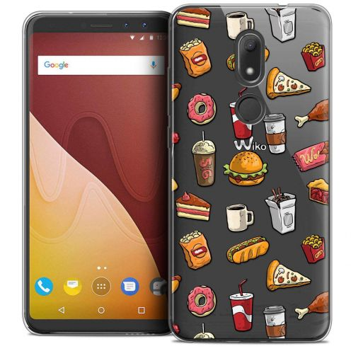 """Coque Crystal Gel Wiko View PRIME (5.7"""") Extra Fine Foodie - Fast Food"""
