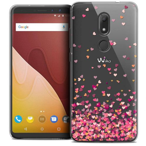 """Coque Crystal Gel Wiko View PRIME (5.7"""") Extra Fine Sweetie - Heart Flakes"""
