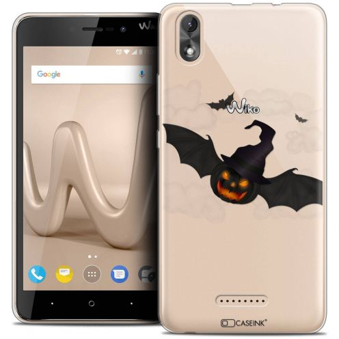 "Coque Crystal Gel Wiko Lenny 4 PLUS (5.5"") Extra Fine Halloween - Chauve Citrouille"