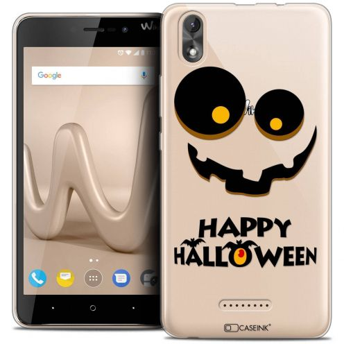 "Coque Crystal Gel Wiko Lenny 4 PLUS (5.5"") Extra Fine Halloween - Happy"