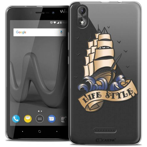 "Coque Crystal Gel Wiko Lenny 4 PLUS (5.5"") Extra Fine Tatoo Lover - Life Style"