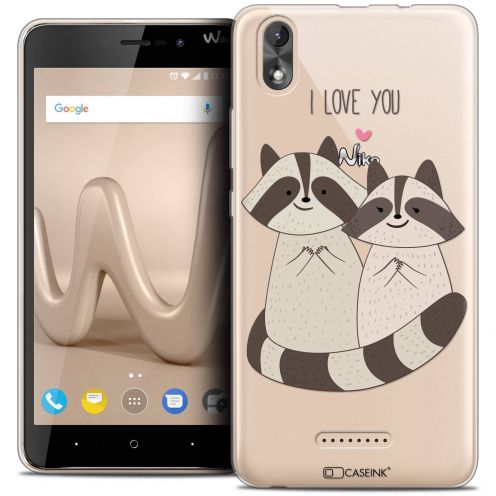 "Coque Crystal Gel Wiko Lenny 4 PLUS (5.5"") Extra Fine Sweetie - Racoon Love"