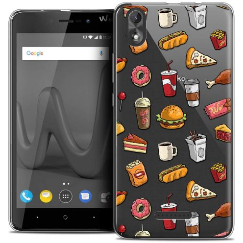 "Coque Crystal Gel Wiko Lenny 4 PLUS (5.5"") Extra Fine Foodie - Fast Food"