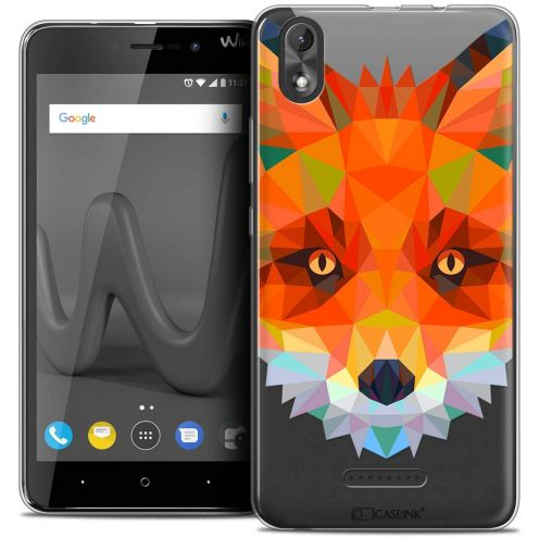 "Coque Crystal Gel Wiko Lenny 4 PLUS (5.5"") Extra Fine Polygon Animals - Renard"