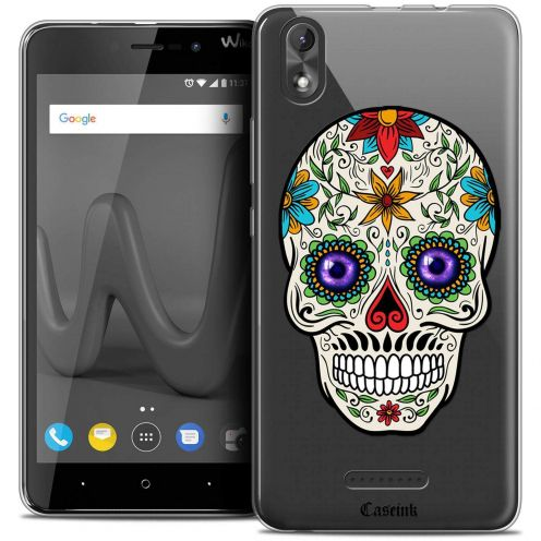 "Coque Crystal Gel Wiko Lenny 4 PLUS (5.5"") Extra Fine Skull - Maria's Flower"