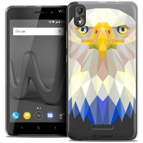 "Coque Crystal Gel Wiko Lenny 4 PLUS (5.5"") Extra Fine Polygon Animals - Aigle"