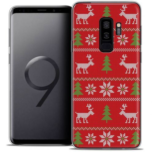 """Coque Crystal Gel Samsung Galaxy S9+ (6.2"""") Extra Fine Noël 2017 - Couture Rouge"""