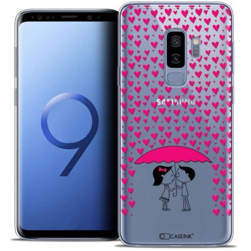 "Coque Crystal Gel Samsung Galaxy S9+ (6.2"") Extra Fine Love - Pluie d'Amour"